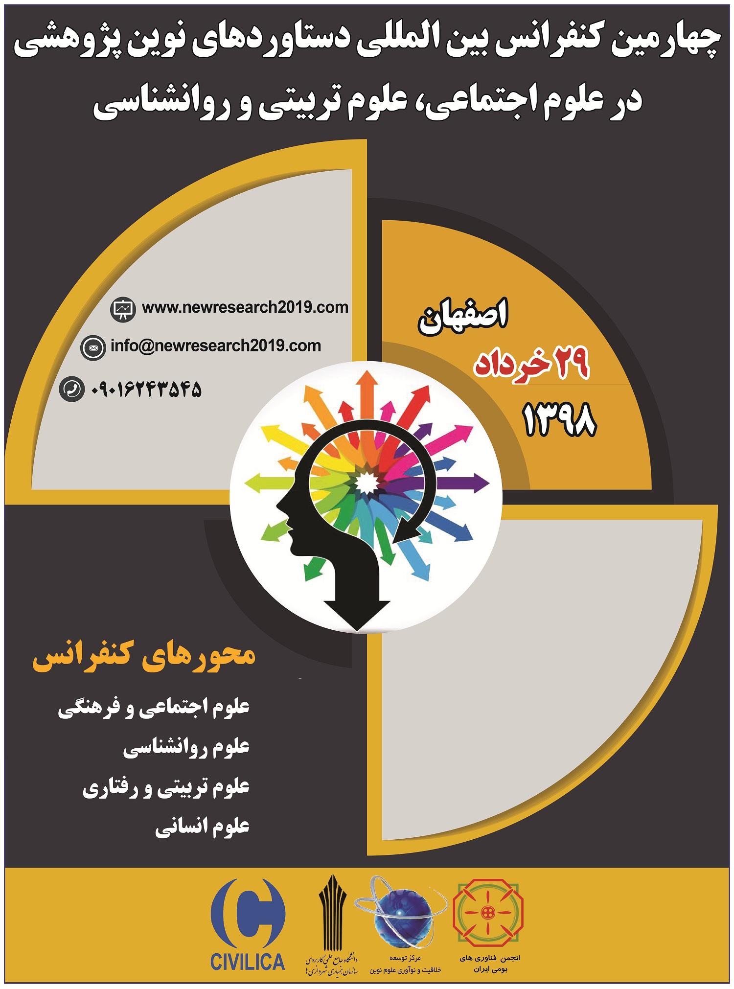 چهارمین کنفرانس بین المللی دستاوردهای نوین پژوهشی در علوم اجتماعی، علوم تربیتی و روانشناسی
