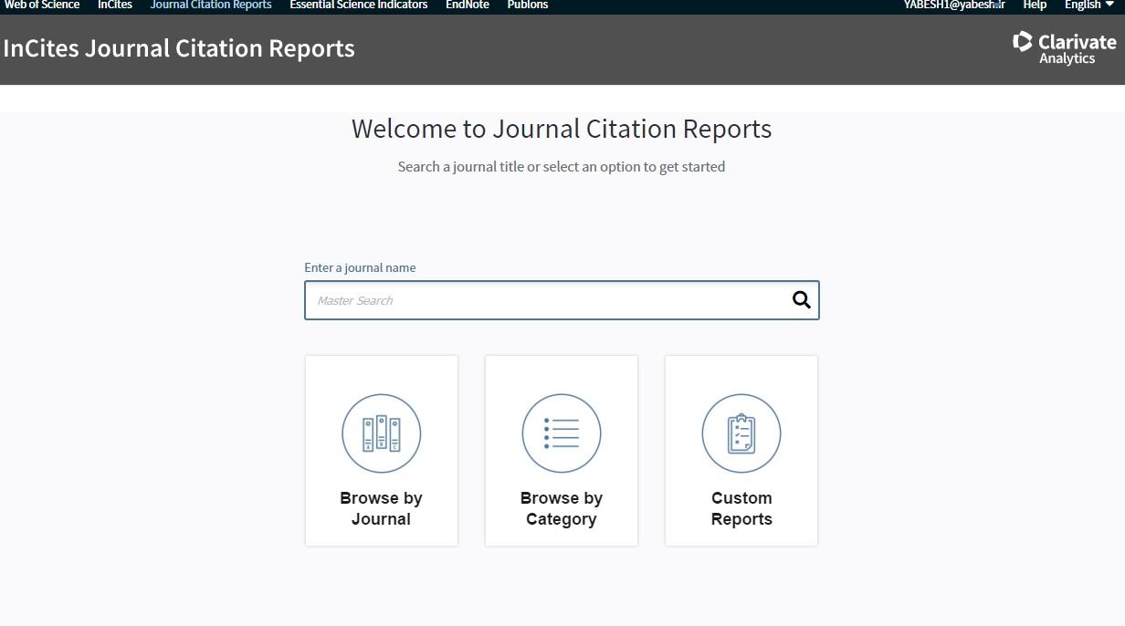 دسترسی رایگان پایگاه جی سی آر JCR-ISI